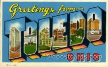LLT1001243 - Toledo, Ohio Large Letter Town Towns Post Cards Postcards