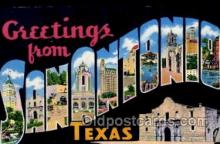LLT1001246 - San Antonio, Texas Large Letter Town Towns Post Cards Postcards