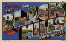 LLT1001248 - Black Hills, South Dakota Large Letter Town Towns Post Cards Postcards