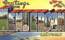 LLT100125 - Henderson, Kentucky, Usa Large Letter Town, Towns, Postcard Postcards