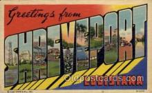 LLT1001250 - Shreveport, Louisiana Large Letter Town Towns Post Cards Postcards