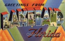 LLT1001251 - Lakeland, Florida Large Letter Town Towns Post Cards Postcards