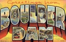 LLT1001252 - Boulder Dam Large Letter Town Towns Post Cards Postcards