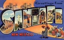 LLT1001253 - Santa Fe, New Mexico Large Letter Town Towns Post Cards Postcards