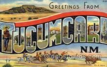 LLT1001254 - Tucumcari, New Mexico Large Letter Town Towns Post Cards Postcards