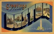 LLT1001258 - Boston, Massachusetts Large Letter Town Towns Post Cards Postcards