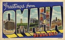 LLT1001259 - Omaha, Nebraska Large Letter Town Towns Post Cards Postcards
