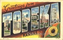 LLT100126 - Topeka, Kansas, Usa Large Letter Town, Towns, Postcard Postcards