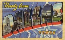 LLT1001260 - Dallas, Texas Large Letter Town Towns Post Cards Postcards