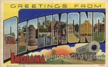 LLT1001261 - Richmond, Indiana Large Letter Town Towns Post Cards Postcards
