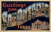 LLT1001262 - San Antonio, Texas Large Letter Town Towns Post Cards Postcards