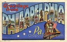 LLT1001263 - Philadelphia, Pennsylvania Large Letter Town Towns Post Cards Postcards
