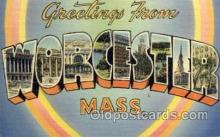 LLT1001264 - Worcester, Massachusetts Large Letter Town Towns Post Cards Postcards
