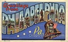 LLT1001265 - Philadelphia, Pennsylvania Large Letter Town Towns Post Cards Postcards