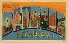 LLT1001266 - Detroit, Michigan Large Letter Town Towns Post Cards Postcards