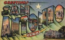 LLT1001268 - San Antonio, Texas Large Letter Town Towns Post Cards Postcards