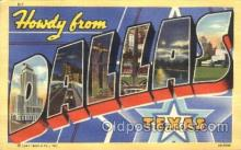 LLT100127 - Dallas, Texas, Usa Large Letter Town, Towns, Postcard Postcards