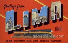 LLT1001274 - Lima, Ohio Large Letter Town Towns Post Cards Postcards