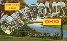 LLT1001276 - Gallipolis, Ohio Large Letter Town Towns Post Cards Postcards