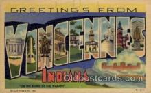 LLT1001279 - Vincennes, Indiana Large Letter Town Towns Post Cards Postcards