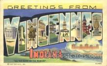 LLT100128 - Vincennes, indiana, Usa Large Letter Town, Towns, Postcard Postcards