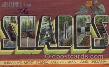 LLT1001280 - Shades, Indiana Large Letter Town Towns Post Cards Postcards