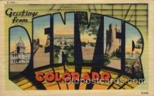 LLT1001282 - Denver, Colorado Large Letter Town Towns Post Cards Postcards