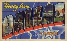 LLT1001287 - Dallas, Texas Large Letter Town Towns Post Cards Postcards