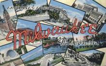 LLT100129 - Milwaukee, Wisconsin, Usa Large Letter Town, Towns, Postcard Postcards