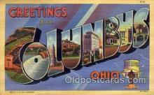 LLT1001293 - Columbus, Ohio Large Letter Town Towns Post Cards Postcards