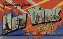 LLT1001295 - New York City, New York Large Letter Town Towns Post Cards Postcards
