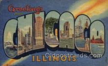 LLT1001297 - Chicago, Illinois Large Letter Town Towns Post Cards Postcards