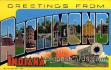 LLT1001298 - Richmond, Indiana Large Letter Town Towns Post Cards Postcards