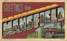 LLT1001301 - Mansfield, Ohio Large Letter Town Towns Post Cards Postcards