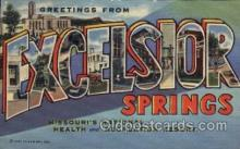LLT1001303 - Excelsior Springs, Missouri Large Letter Town Towns Post Cards Postcards