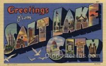 LLT1001306 - Salt Lake City, Utah Large Letter Town Towns Post Cards Postcards
