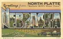 LLT100132 - North Platte, Nebraska, Usa Large Letter Town, Towns, Postcard Postcards