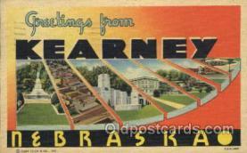 LLT100133 - Kearney, Nebraska, Usa Large Letter Town, Towns, Postcard Postcards