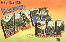 LLT100134 - Water Gap, Delaware, USA Large Letter Town, Towns, Postcard Postcards