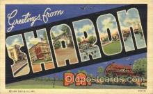 LLT100137 - Sharon, Pa, Usa Large Letter Town, Towns, Postcard Postcards