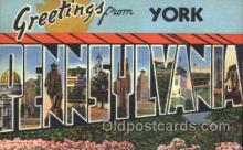 LLT100138 - Pennsylvania, Usa Large Letter Town, Towns, Postcard Postcards