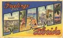 LLT100143 - Miami Beach, Florida, Usa Large Letter Town, Towns, Postcard Postcards