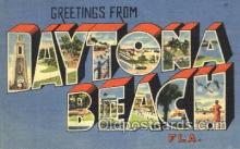 LLT100144 - Daytona Beach, Florida, Usa Large Letter Town, Towns, Postcard Postcards