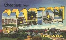 LLT100146 - Marion, Indiana, Usa Large Letter Town, Towns, Postcard Postcards
