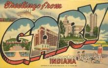 LLT100147 - Gary, Indiana, Usa Large Letter Town, Towns, Postcard Postcards