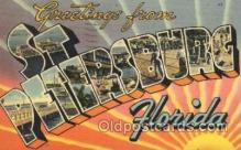 LLT100149 - St. Petersburg, Florida, Usa Large Letter Town, Towns, Postcard Postcards