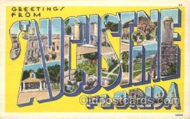 LLT100150 - St. Aucustine, Florida, Usa Large Letter Town, Towns, Postcard Postcards
