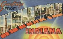 LLT100153 - Indianapolis, Indiana, Usa Large Letter Town, Towns, Postcard Postcards