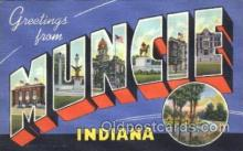 LLT100154 - Muncie, Indiana, Usa Large Letter Town, Towns, Postcard Postcards