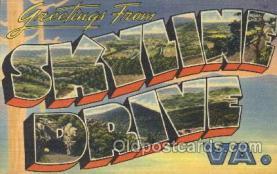 LLT100159 - Skyline Drive, Va, usa Large Letter Town, Towns, Postcard Postcards